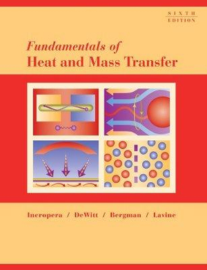 Cover of Fundamentals of Heat and Mass Transfer 6E