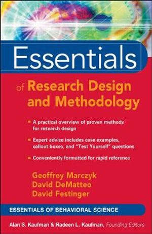 Cover of Essentials of Research Design and Methodology