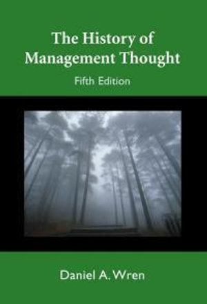 Cover of The History Of Management Thought