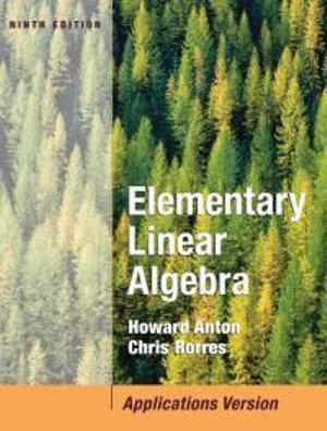 Cover of Elementary Linear Algebra with Applications 9E