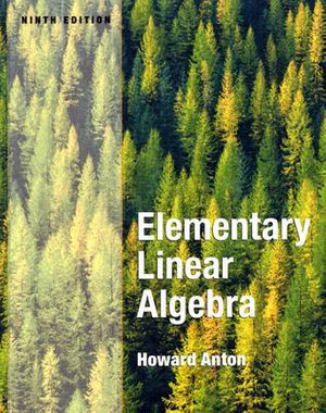 Cover of Elementary Linear Algebra 9E