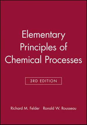 Cover of Elementary Principles of Chemical Processes, Student Workbook