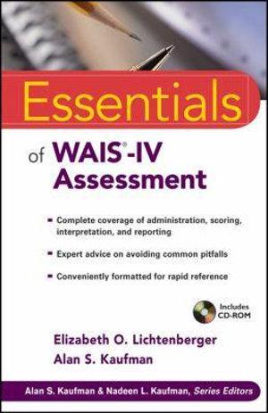 Cover of Essentials of WAIS-IV Assessment