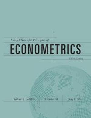 Cover of Using EViews for Principles of Econometrics