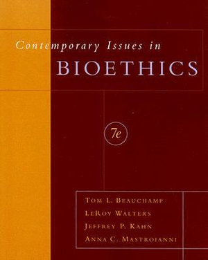 Cover of Contemporary issues in bioethics