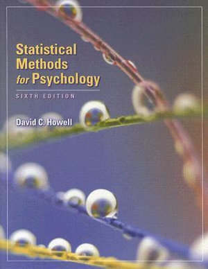 Cover of Statistical Methods for Psychology