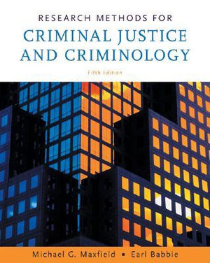 Cover of Research Methods for Criminal Justice and Criminology