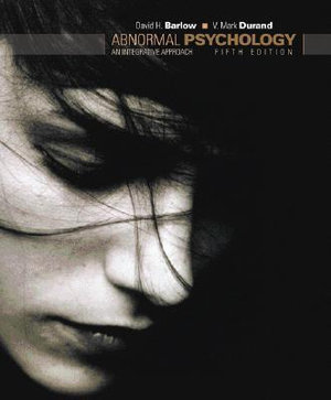 Cover of Abnormal Psychology: An Integrated Approach