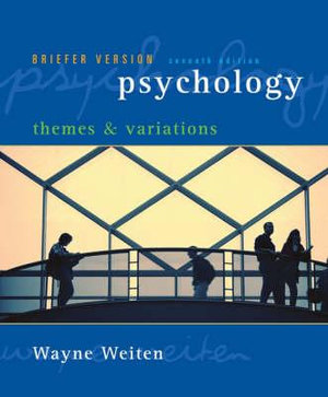 Cover of Psychology: Themes and Variations, Briefer Edition