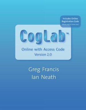 Cover of CogLab Online with Access Code, Version 2.0