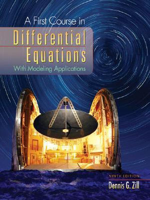 Cover of A First Course in Differential Equations