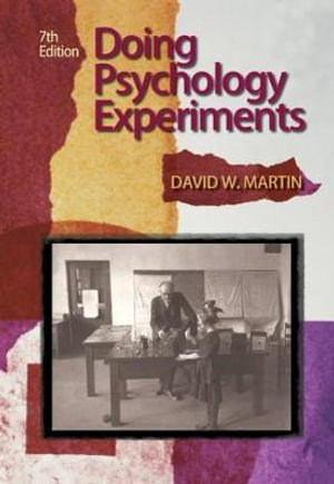 Cover of Doing Psychology Experiments