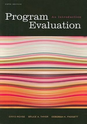Cover of Program Evaluation: An Introduction