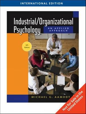 Cover of Industrial, Organizational Psychology