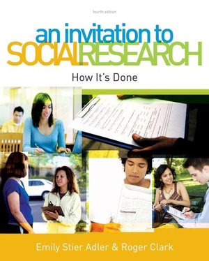 Cover of An Invitation to Social Research : How It's Done