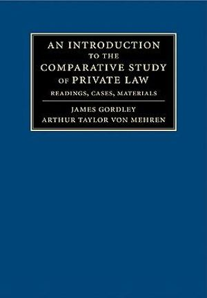 Cover of An Introduction to the Comparative Study of Private Law