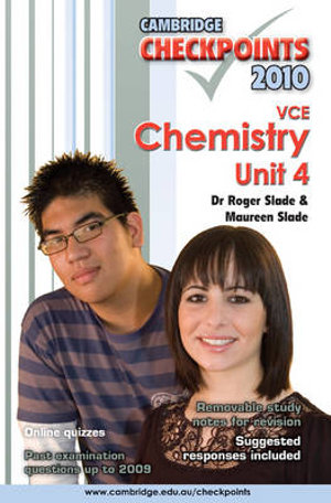 Cover of Cambridge Checkpoints VCE Chemistry Unit 4 2010