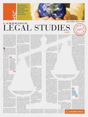 Cover of Cambridge Legal Studies HSC