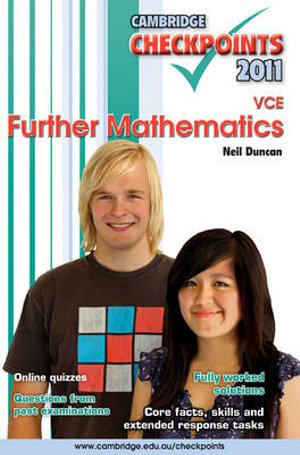 Cover of Cambridge Checkpoints VCE Further Mathematics 2011