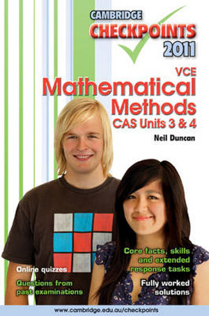 Cover of Cambridge Checkpoints VCE Mathematical Methods CAS Units 3 And 4 2011