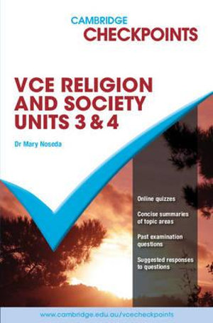 Cover of Cambridge Checkpoints VCE Religion and Society 20011-15