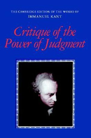 Cover of Critique of the Power of Judgment