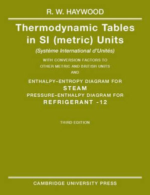 Cover of Thermodynamic Tables in SI (Metric) Units