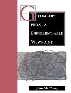Cover of Geometry from a Differentiable Viewpoint