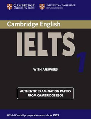 Cover of Cambridge Practice Tests for IELTS 1 Self-study Student's Book