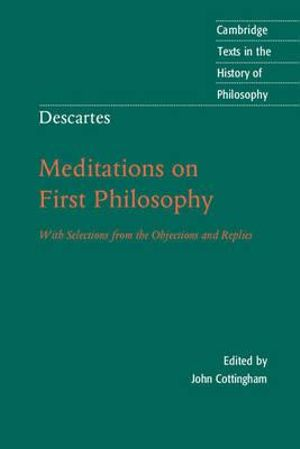 Cover of Descartes: Meditations on First Philosophy