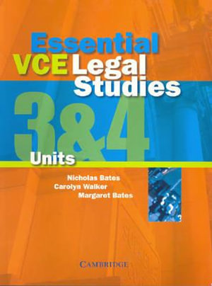 Cover of Essential VCE Legal Studies Units 3 and 4