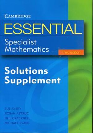 Cover of Essential Specialist Mathematics