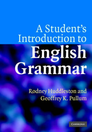 Cover of A Student's Introduction to English Grammar