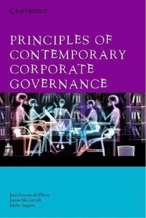 Cover of Principles of Contemporary Corporate Governance