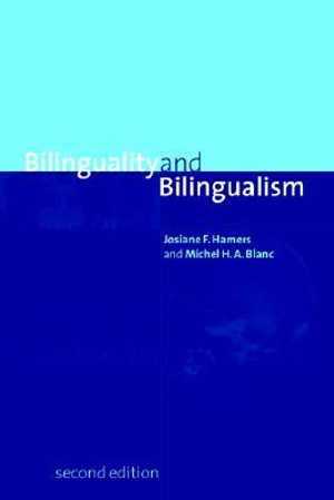 Cover of Bilinguality and Bilingualism