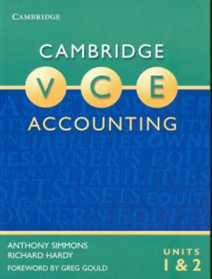 Cover of Cambridge VCE Accounting Units 1 and 2