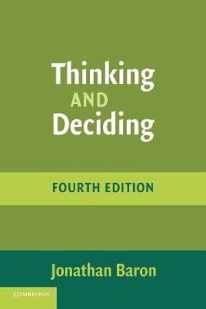 Cover of Thinking and Deciding