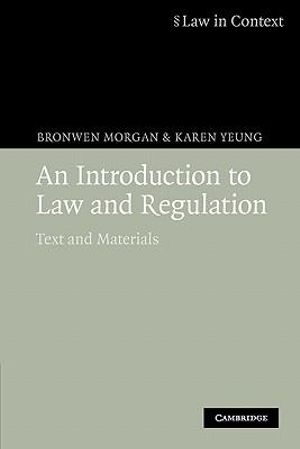 Cover of An Introduction to Law and Regulation