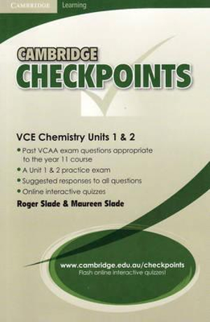 Cover of Cambridge Checkpoints VCE Chemistry Units 1 And 2