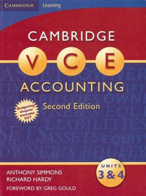 Cover of Cambridge VCE Accounting Units 3 And 4