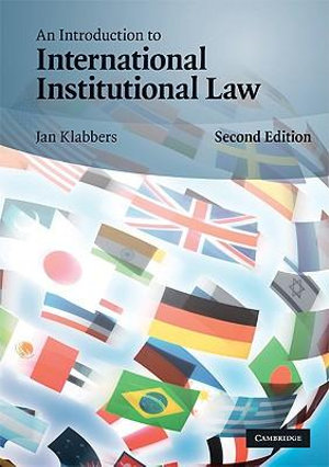 Cover of An introduction to international institutional law