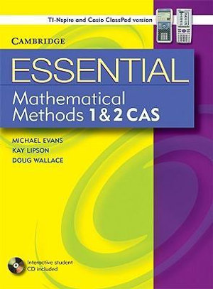 Cover of Essential Mathematical Methods 1 and 2 CAS