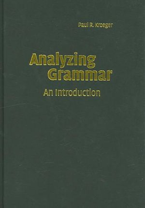 Cover of Analyzing Grammar
