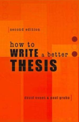 Cover of How to Write a Better Thesis