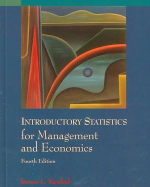 Cover of Introductory statistics for management and economics