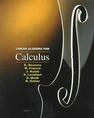 Cover of Linear Algebra for Calculus