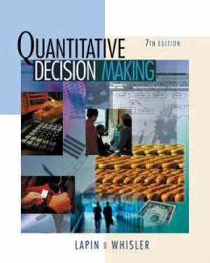 Cover of Quantitative Decision Making with Spreadsheet Applications