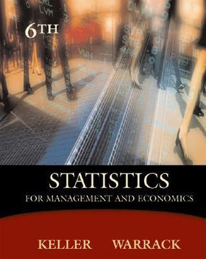 Cover of Statistics for management and economics