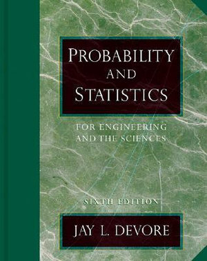 Cover of Probability and Statistics for Engineering and the Sciences With Infotrac