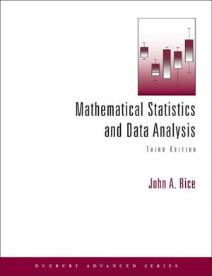 Cover of Mathematical Statistics and Data Analysis (with CD Data Sets)